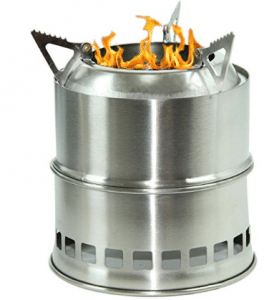 Camping Wood Burning Survival Stove Foldable Portable - Wood Burning Stoves
