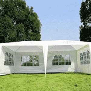 FCH 10'x20'Outdoor Patio Party Canopy Tent Wedding Outdoor Tent Heavy duty Gazebo Pavilion For Waterproof 4 Window SideWalls