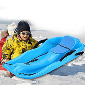 Unichart Snow Sled for Kids/Adult, Outdoor Grass Skiing, Winter Toboggan