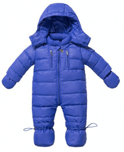 ZOEREA Infant Newborn Baby Hoodie Down Jacket Jumpsuit Pram Snuggly Snow Suit