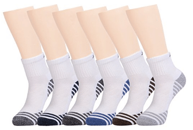 Joynée Men's Athletic Cushioned Quarter Ankle Socks Pack of 6 - Men's Ankle Socks