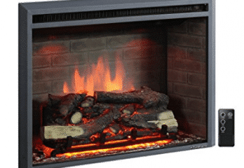 PuraFlame Western 33 inch Embedded Electric Firebox Heater With Remote Control