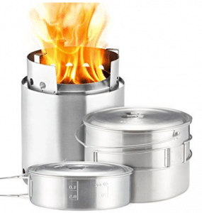 Solo Stove Campfire & 2 Pot Set Combo - Wood Burning Stoves