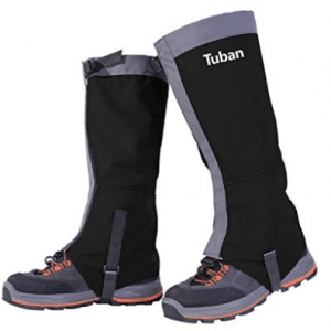 Tuban Hiking Gaiters Ski Snow Gaiters Waterproof Boot Gaiters Leg Gaiters High Gaiter Breathable 420d Nylon Men's Gaiters TPU Strap