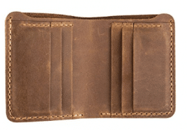 ANCICRAFT Classic Men's Genuine Cowhide Leather Handmade Bi-fold Wallet