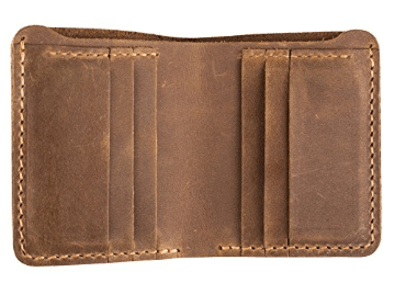 39868cd489776 ANCICRAFT Classic Cowhide Leather Handmade Wallet