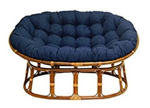 Double Papasan Chair with Fabric Cushion, Papasan Chair Cushions