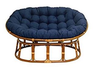 International Caravan Papasan Chair Cushions, Double Papasan Chair With  Fabric Cushion