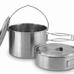 Solo Stove 2 Pot Set: Stainless Steel Companion Pot Set for Solo Stove Campfire, Solo Stove
