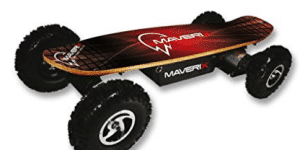 Maverix USA Border X 800W Skateboard, Red, 42-Inch