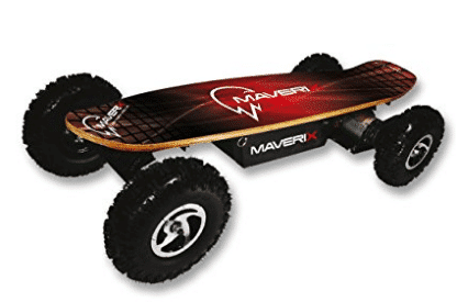 Maverix USA Border X 800W Skateboard, Red, 42-Inch - Off Road Skateboards