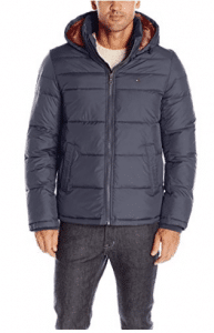Tommy Hilfiger Men's Ultra Loft Insulated Midlength Quilted Puffer Jacket with Fixed Hood