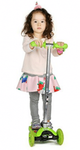 Vokul 1281F LED light 3 Wheel Mini Kick Scooter with Adjustable - Electric Scooter for Kids