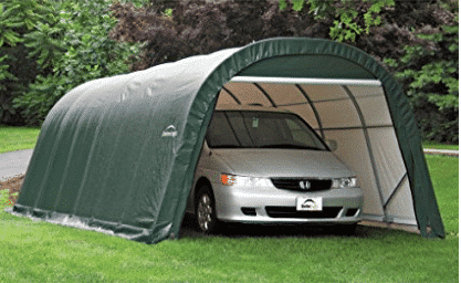 ShelterLogic 12-Ft.W Round-Style Instant Garage - 28ft.L x 12ft.W x 8ft.H, 1 5/8in. Frame