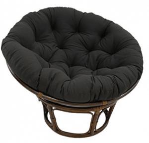 Blazing Needles Solid Twill Best Papasan Chair With Cushions, 48u2033 X 6u2033 X  48.u201d