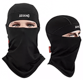 Balaclava, Aegend Ski Face Mask Polyester Fleece for Women Men Youth Tactical Balaclava Hood for Motorcycle Snowboard Cycling Outdoors in Winter Neck Warmer or Lightweight Windproof Hat-Black