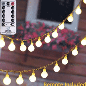MineTom UL Listed 36 feet Crystal Ball 100 LED Globe String Lights with Remote & Timer, LED Christmas lights