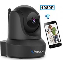 Network Wireless IP Camera, VStarcam IP Cam 1080P WiFi Video Surveillance Monitor for Indoor