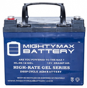 12V 35AH GEL Battery Replaces U1-36NE w/ Nut and Bolt Terminal - Electric Scooter Batteries