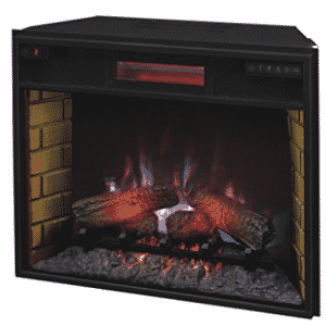 "ClassicFlame 28II300GRA 28"" Infrared Quartz Fireplace Insert with Safer Plug, Fireplace Inserts"