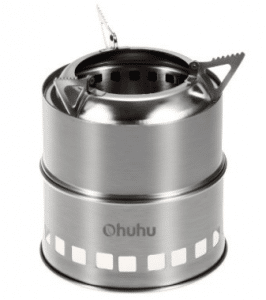 Ohuhu Portable Stainless Steel Wood Burning Camping Stove - Wood Burning Stoves