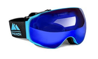 Spherion Gear Ski Goggles + Detachable Amber Lens
