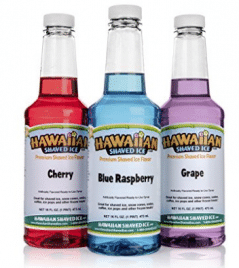 Hawaiian Shaved Ice Snow Cone Syrups