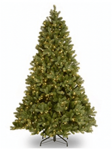 "National Tree 6.5 Foot ""Feel Real"" Downswept Douglas Fir Tree with 650 Clear Lights"