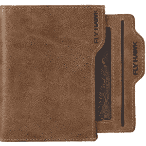 FlyHawk Men's RFID Blocking Italian Genuine Handmade Leather Bifold Wallet