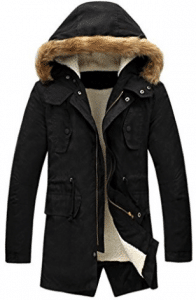 LILBETTER Men's Hooded Faux Fur Lined Warm Coats Outwear Winter Jackets