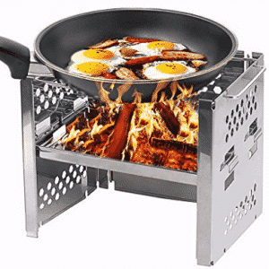 Unigear Foldable Stainless Steel Wood Burning Backpacking Camping Stove, Wood Burning Stoves