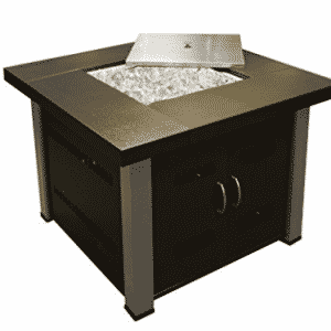 AZ Patio Heaters Fire Pit, Propane in Two Tone Hammered Bronze and Stainless Steel