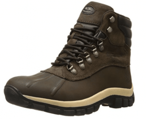KINGSHOW Mens M0705 Water Resistance Leather Rubber Sole Winter Snow Boots