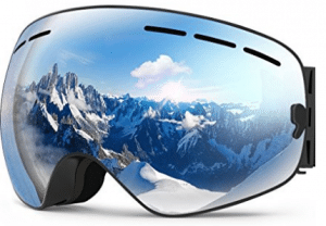 ZIONOR Lagopus X Ski Snowboard Goggles Full Mirror Coated Lens Spherical Lens UV Protection Anti-fog Detachable Strap
