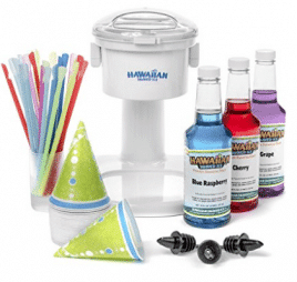 S700 Snow Cone Machine, 25 Snow Cone Cups, 25 Spoon Straws