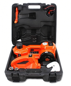 12V DC 1 Ton Electric Hydraulic Floor Jack Set with Impact Wrench For Car Use