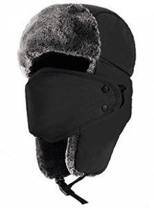Mysuntown Unisex Winter Trooper Trapper Hat Hunting Hat Ushanka Ear Flap Chin Strap with Windproof Mask - Winter Face Masks