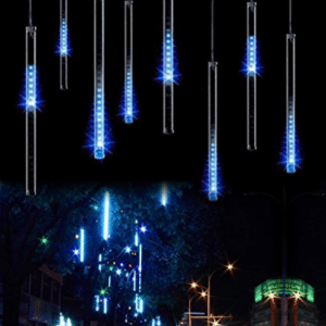 OMGAI Upgraded 30cm 8 Tubes 144 LED Meteor Shower Rain Lights - LED Christmas lights