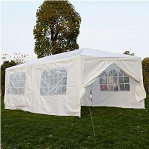 Wedding Canopy, 10'X20'6 Walls Outdoor Canopy Party Wedding Tent Heavy Duty Gazebo Garden Bbq