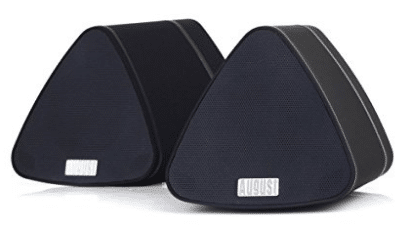 August MS515B Dual Speaker Portable Bluetooth Stereo Speakers