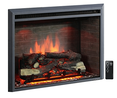 "PuraFlame 30"" Western Electric Fireplace Insert with Remote Control, Fireplace Inserts"