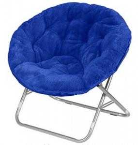 "Mainstays Faux-Fur Saucer Chair | Dimensions: 30""L x 28""W x 29""H (Royal Spice)"