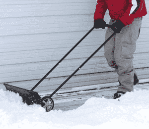 Wheeled Snow Shovel Pusher - Electric Snow Shovel with Wheels