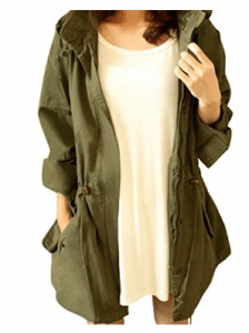 Cekaso Women's Anorak Military Parka Coat - Parka Jacket for Women