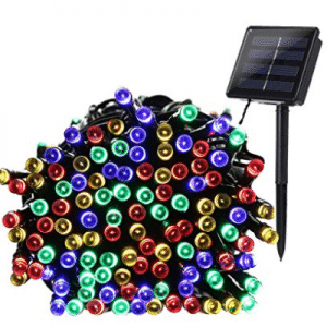 Qedertek 200 LED Solar Powered Christmas Lights, 72ft Fairy Lights Decorative Lighting for Home - LED Christmas lights