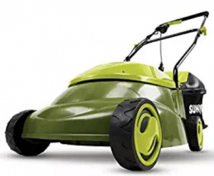 Sun Joe MJ401E Mow Joe 14-Inch 12 Amp Electric Lawn Mower With Grass Bag, Push Lawn Mowers