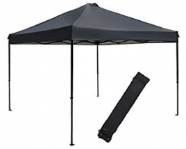 Abba Patio 10 x 10-Feet Outdoor Pop Up Portable Shade Instant Folding Canopy with Roller Bag