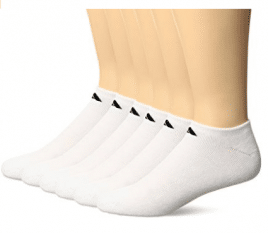 adidas Men's No Show Athletic Sock, Men's Ankle Socks (6-Pack)