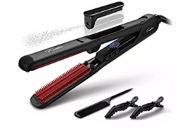 Steam Hair Straightener, Black Hair Straightening Iron