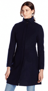 Via Spiga Women's Funnel-Neck Wool-Blend Coat